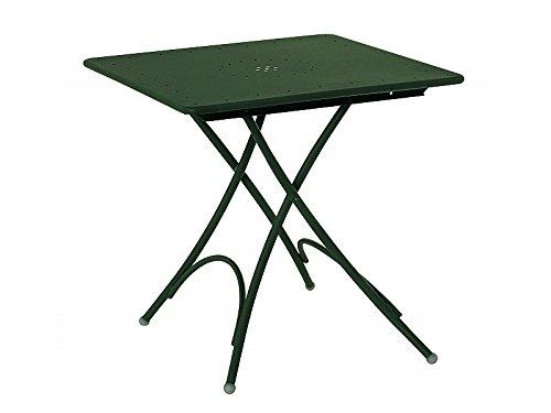 Emu Table Jardin en Acier carré Pliable Pigalle 76 x 76 cm ...