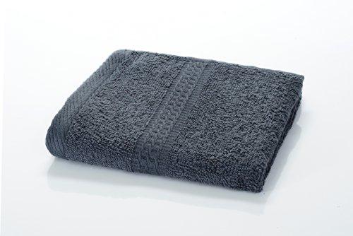 etérea Handtuch - Frotteeserie, schwere und flauschige 500 g/m² Qualität, 30 cm x 30 cm Seiftuch in Anthrazit