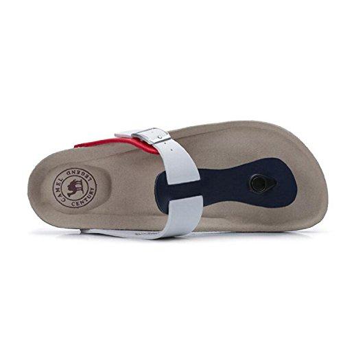 Kameel Heren Rif Flip Flop Comfortabele Slip Op Thong Sandaal Strand Schoenen Met Gesp Blauw