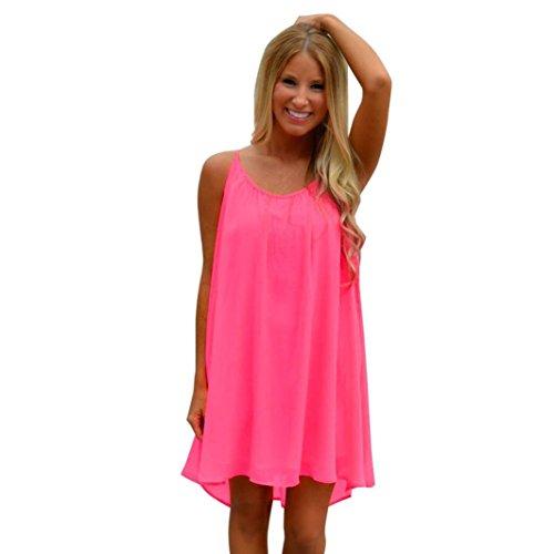 Women Summer Dress,Todaies Women Spaghetti Strap Back Dress