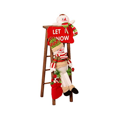 JPJ(TM) ❤️Santa Claus❤️1pcs Christmas Hot Fashion Santa Claus Climbing On Rope Ladder Figure Xmas Trees Outdoor Decor (B)