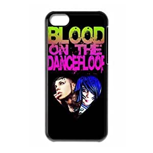 Gators Florida USA-7 Music Band Blood on the Dance Floor Print Black Case With Hard Shell Cover for Apple iPhone 5C