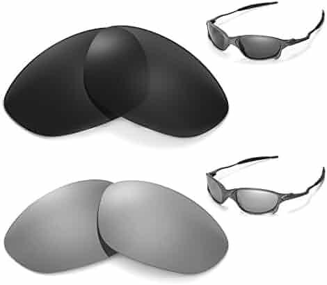 85d106f7ab7 New Walleva Polarized Titanium + Black Lenses For Oakley X Metal XX