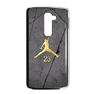 Popular And Durable Designed TPU Case with Jordan logo LG G2 Cell Phone Case Black