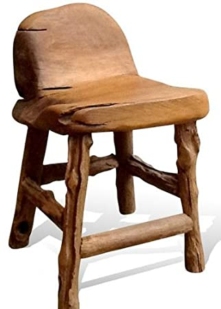 Natural Teak Root Wood Farmhouse Chair. Hand-Crafted in Indonesia.