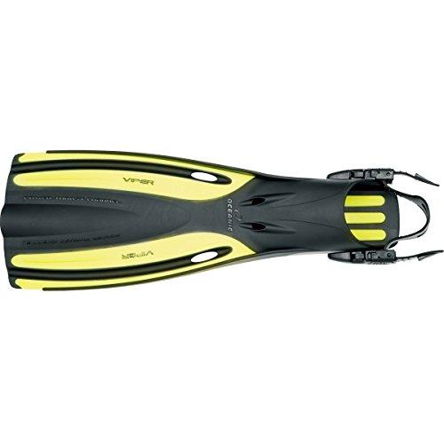 Oceanic Viper Open Heel Scuba Fin - Dive Fins Yellow Regular