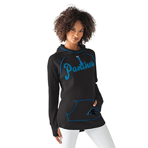 GIII For Her NFL Carolina Panthers Women's Base Camp Adventure Hoodie, Black, Medium