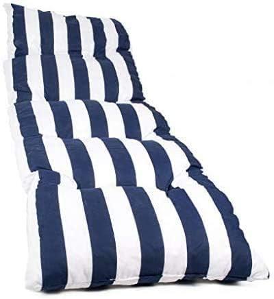 Dabuty Online, S.L. Pack de 2 Cojines de Tumbona Acolchada de Rayas 180 x 55 X 5 cm Colchón Texturas. Colchoneta Tumbona (Azul): Amazon.es: Hogar
