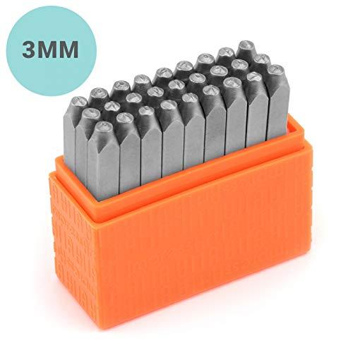 (ImpressArt- Basic Metal Stamp Letter Set, Lowercase, 3mm Steel Alphabet Punch Kit)