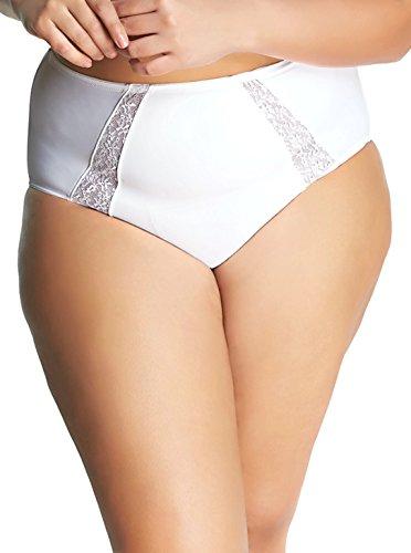 Goddess Women's Plus Size Adelaide Brief, White, 3L