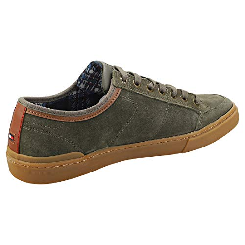 Suede Tommy Green Lace Zapatillas Para Up Sneaker Core Hombre Hilfiger Z7wFa