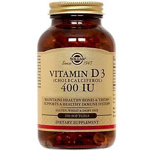 Solgar, Vitamin D3 (Cholecalciferol) 400 Iu, 250 Softgels