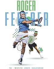 "Roger Federer calendar 2022: SPORT Calendar 2022-2023 – 18 months – BIG SIZE 17""x11"". Planner for all fans kids boys"