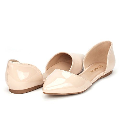 DREAM PAIRS FLAPOINTED Women's Casual D'orsay Pointed Plain Ballet Comfort Soft Slip On Flats Shoes New