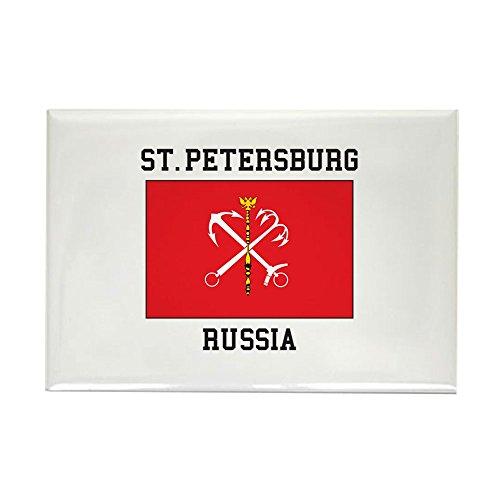 CafePress St. Petersburg Flag Magnets Rectangle Magnet, 2