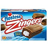 Hostess, Zingers, Chocolate Cake with Vanilla Frosting Middles, 17oz Box (Pack of 2)