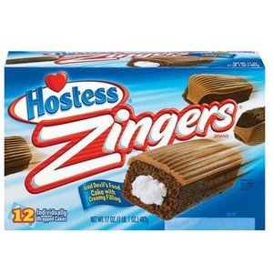 Hostess, Zingers, Chocolate Cake with Vanilla Frosting Middles, 17oz Box (Pack of 2) by Hostess