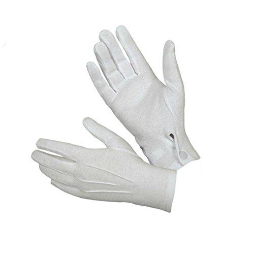 Leoy88 White Formal Wedding Gloves Tuxedo Honor Guard Men Work Mitten-1 Pair (White) -