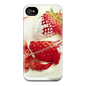 Awesome YiM22040HzEm DeannaTodd Defender Hard Cases Covers For Iphone 6- Strawberries And Yogurt by ruishername