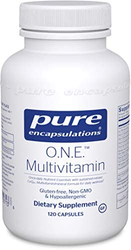 Pure Encapsulations O.N.E. Multivitamin | Once Daily Antioxidant Complex with Metafolin L-5-MTHF, CoQ10, and Lutein to Support Energy, Vision, Cognitive Function, and Cellular Health* | 120 Capsules