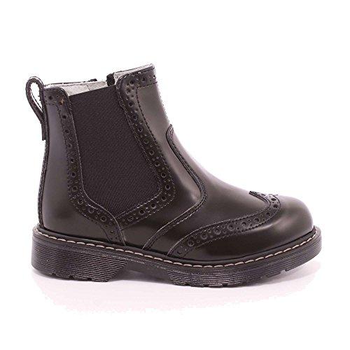 Giardini Nero De Negro Zapatos Piel Junior Para Cordones Mujer qfdqr4F
