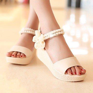 LvYuan de las mujeres otro vestido de la PU de las sandalias del verano del resorte Pink