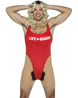 4e5cbeebb471 Mens Anita Waxin Rasta Imposta Fancy Dress Unisex Hairy Lifeguard Swimsuit  Stag Costume