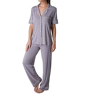 Eberjey Gisele Short Sleeve and Pant PJ Set (PJ1018Z) S/Dusk/Ivory
