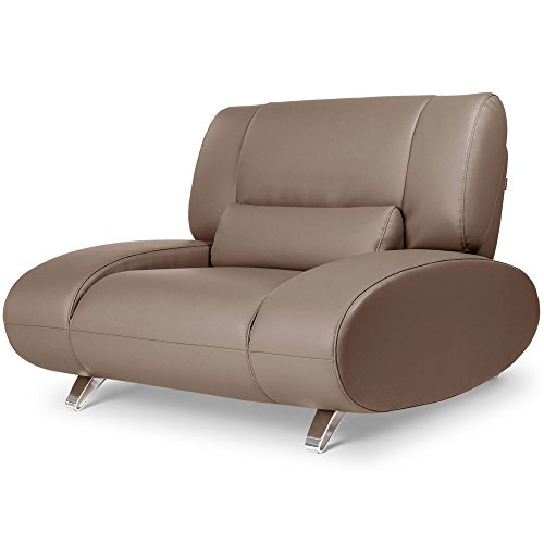 Brown Aspen Leather Sofa Set With Loveseat And Chair