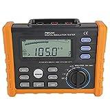 PM5205 Digital Resistance Meter 2500V Insulation Megohm Tester 0.01MΩ-100GΩ Resistance Megger AC/DC Voltage Tester with LCD Backlight Display