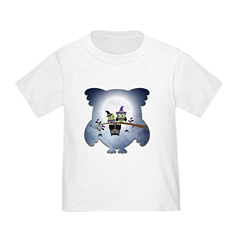 Truly Teague Toddler T-Shirt Little Spooky Vampire Owl with Friends - White, 2T (24 -
