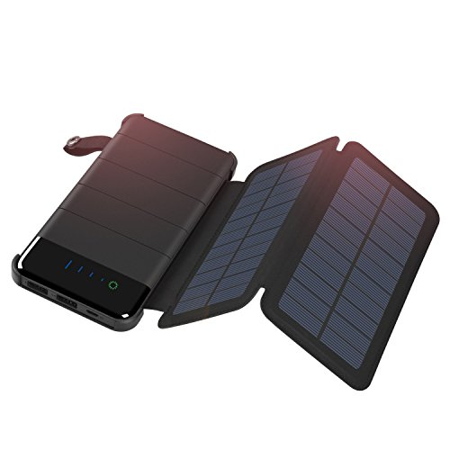 Solar Charger 10000mAh, ADDTOP Power Bank Waterproof Battery Pack Portable phone charger for iPhone, iPad, Samsung, and More Smartphone by ADDTOP
