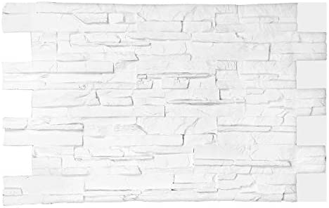 3d Brick Wall Panels Faux Stone Tiles Vintage Brick Stone Look For Outdoor Indoor Wall Tv Background Wall Num L004s Matte White Home Improvement