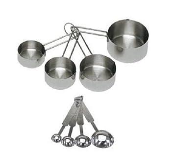 Amazon.com: 8 piezas de lujo de acero inoxidable taza de ...