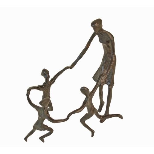 Mother with Children Bronze Sculpture