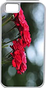 iPhone 4 Case iPhone 4S Case Cases Customized Gifts Cover Bouquet Roses Red Color Flowers Design - Ideal Gift
