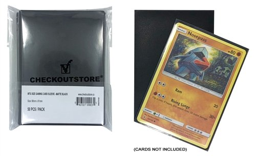 CheckOutStore 5,000 Matte Black Protective Sleeves for Trading Cards (66 x 91 mm)