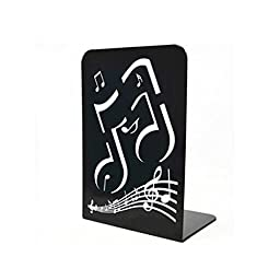Music Note Book Black Stand Mark Metal Book File Book End
