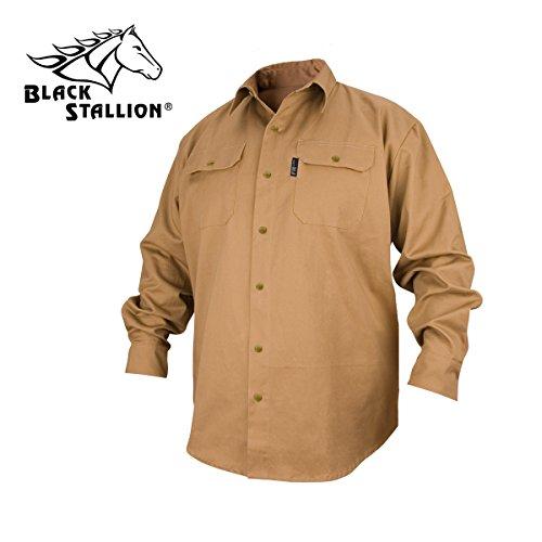 REVCO BLACK STALLION FR FLAME RESISTANT COTTON WORK SHIRT -