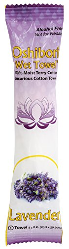 - Oshibori Moist Cotton Towels - Lavender 50 Pack