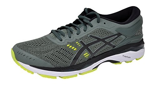 ASICS Men's Gel-Kayano 24 Running-Shoes,Dark Forest/Black/Yellow, 11 D(M) US