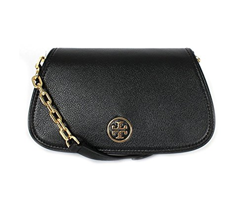 Tory Burch Landon MINI Leather Bag (Black) by Tory Burch