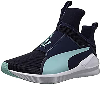 PUMA Women's Fierce Core Sneaker, Peacoat-Island Paradise, 7.5 M US