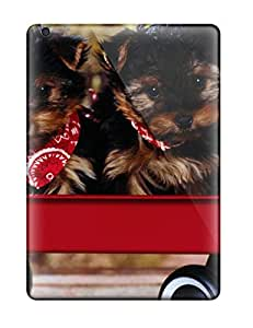 Frances T Ferguson Premium Protective Hard Case For Ipad Air- Nice Design - Two Puppies With Red Scarf On Neck