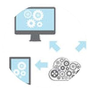 alfombrilla de ratón La computación en nube de red conectados todos los dispositivos - ronda - 20cm