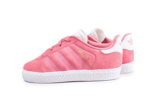 adidas Unisex Baby Gazelle Sneaker Pink (Chalk Pink/Chalk Pink/Footwear White)