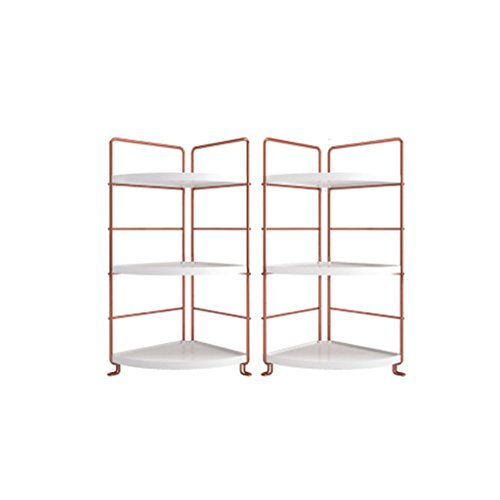 LQQGXL Storage and organization Shelf Economy Is Modern And Simple Desk Shelves Living Room Turquoise Racks Triangular Bookshelf Desktop Shelves White Gold (Color : Combination)