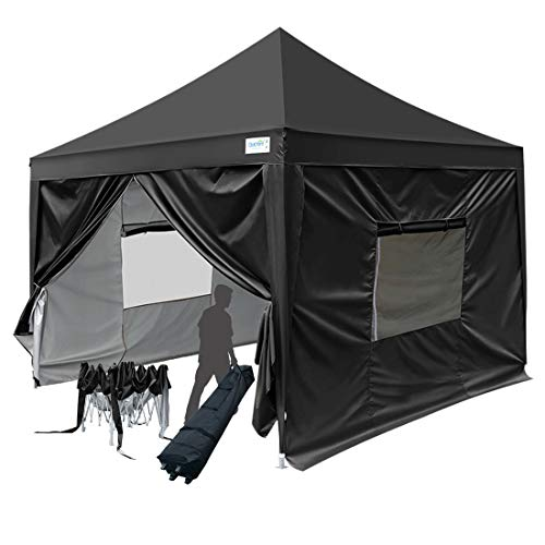 Quictent Upgraded Privacy Pyramid-roofed 6.6x6.6 EZ Pop Up C