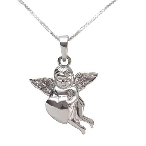 SL Silver Juego de cadena y colgante de corazón 925plata en caja de regalo