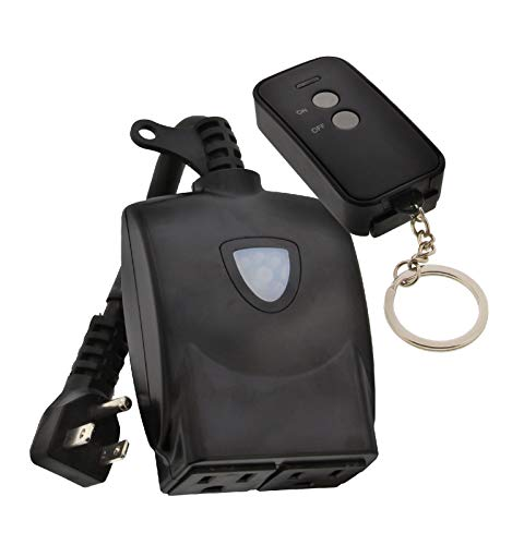 6. Key Home Kit with Wireless Remote Keychain and Plug-in Receiver Kit by AmerTac
